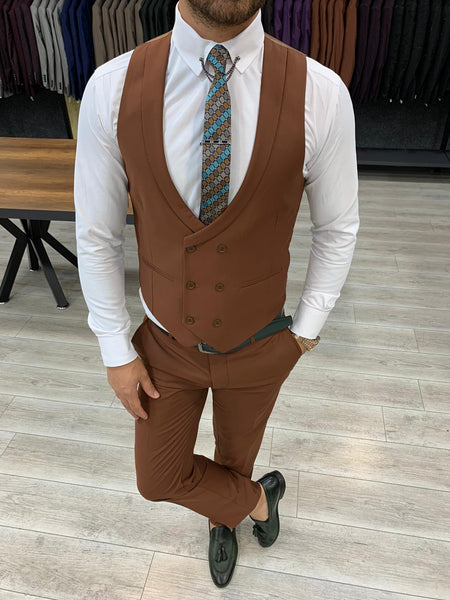 Nardo Brown Slim-Fit Suit