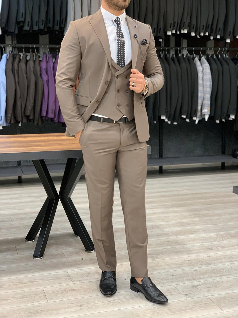 Nardo Coffee Slim-Fit Suit