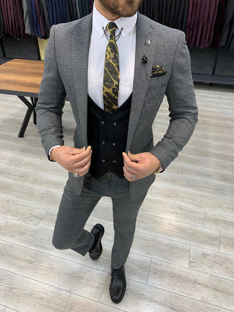 Ricco Grey Slim-Fit Suit