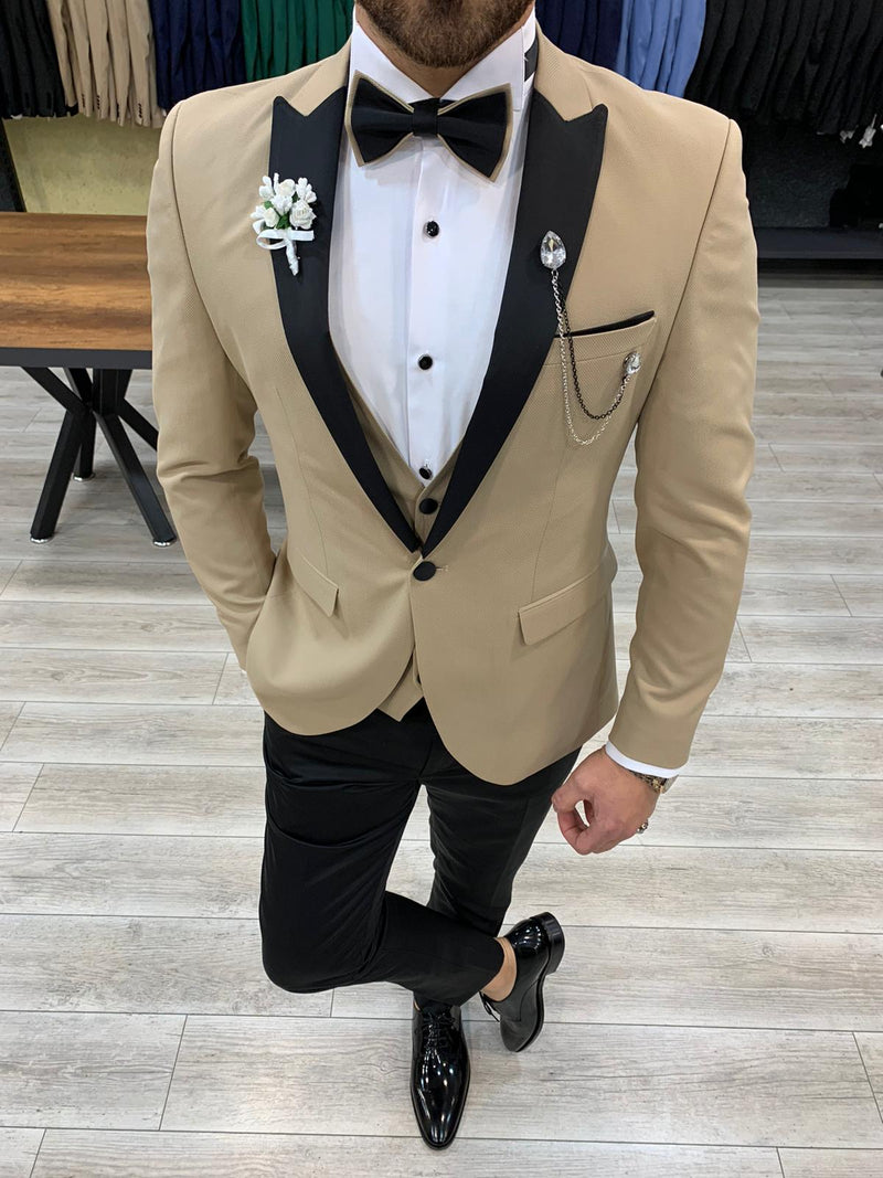 Stagio Cream Slim-Fit Tuxedo