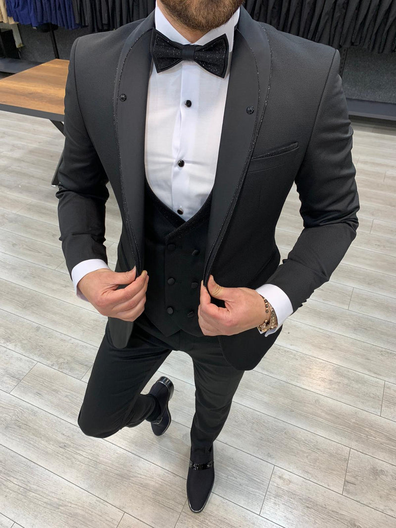 Hugo Black Slim-Fit Tuxedo