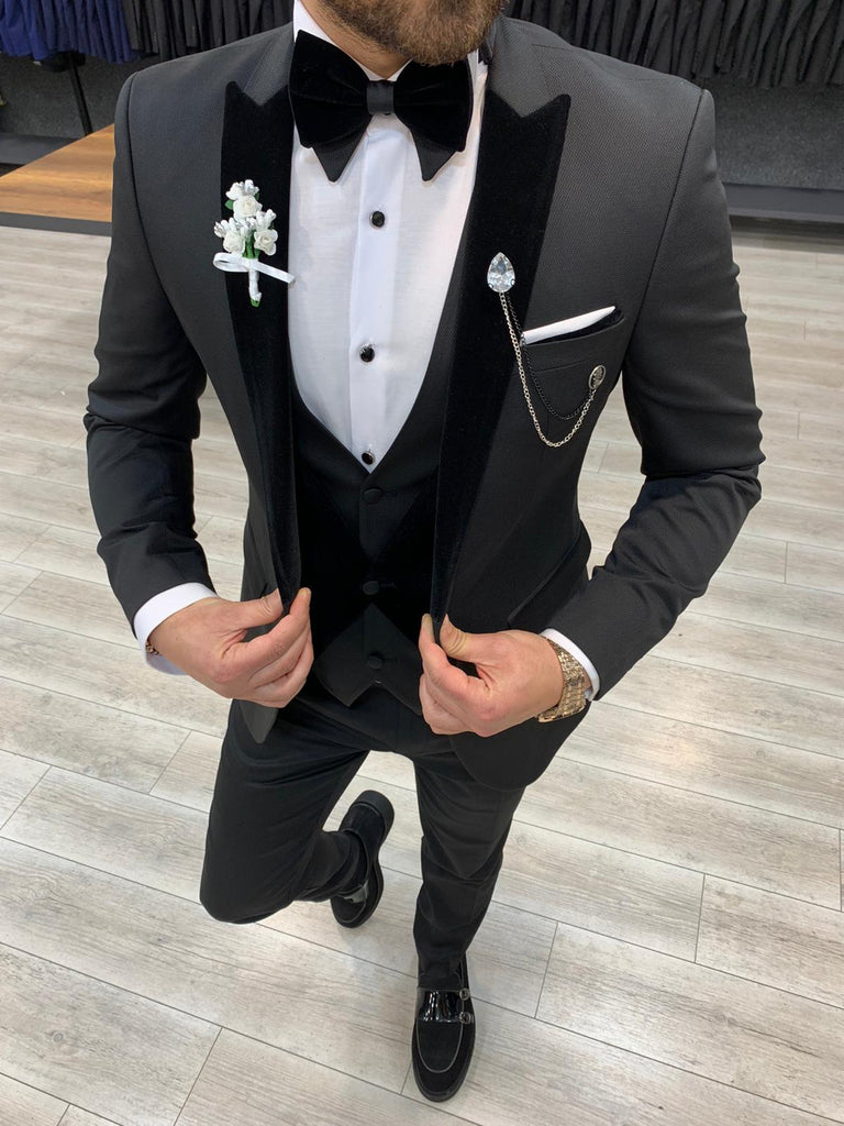 Martino Black Slim-Fit Tuxedo