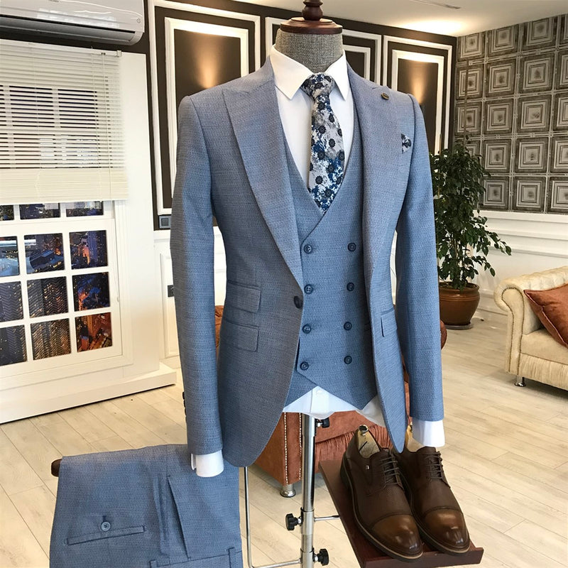 Andrea Blue Slim-Fit Suit