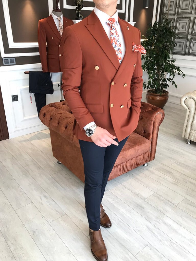 Hudson Brown Double Breasted Blazer