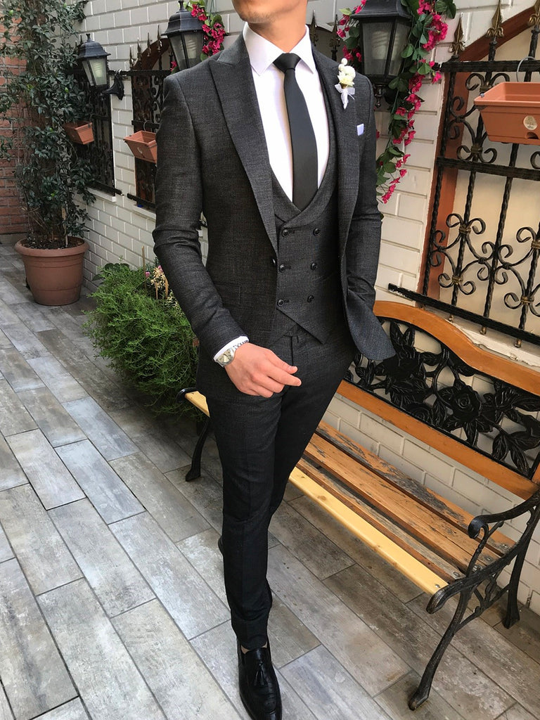 Gianni Black Slim-Fit Suit