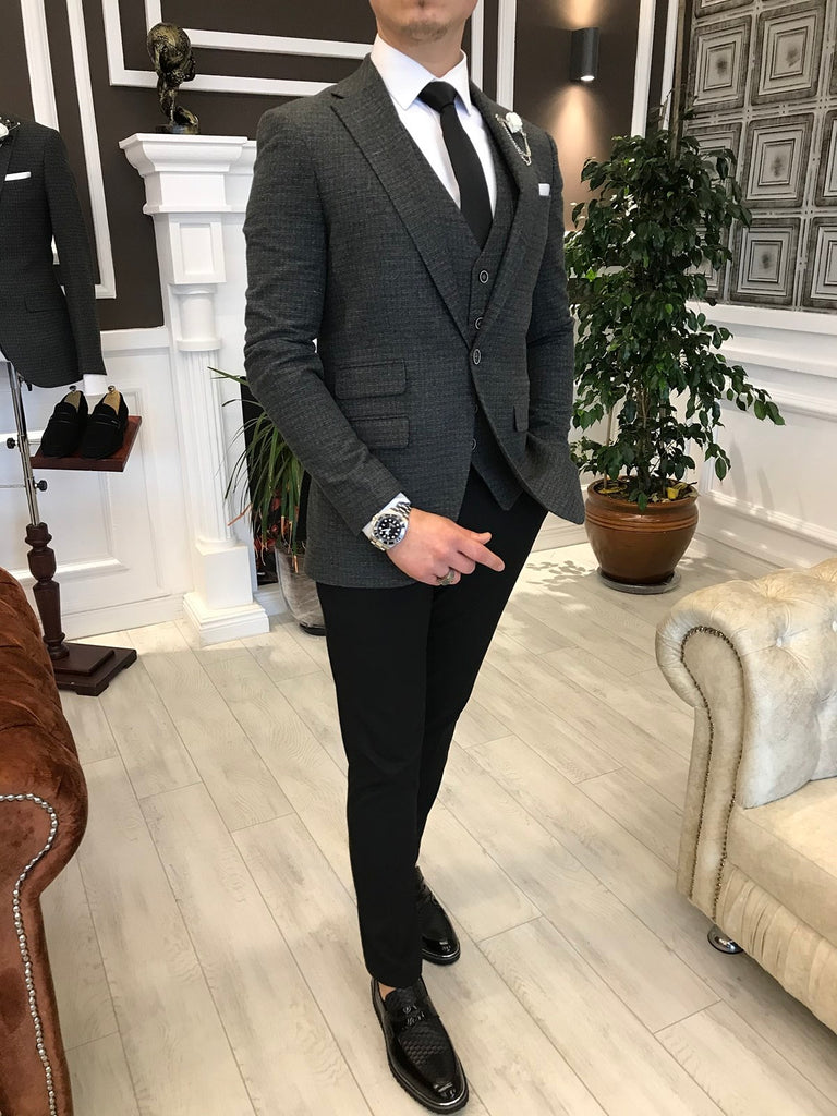 Gianni Grey Slim-Fit Suit