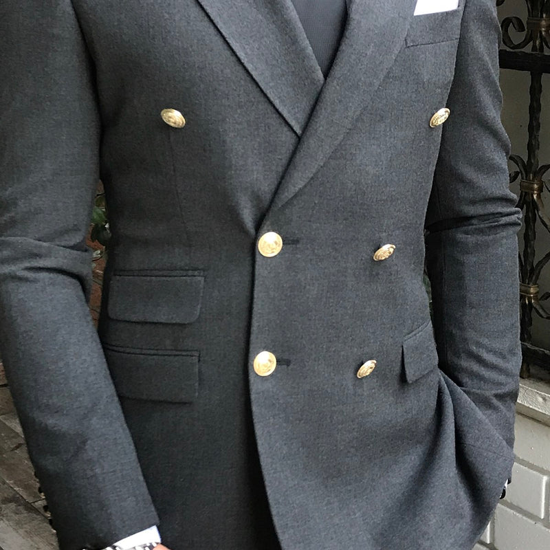Remo Grey Double Breasted Suit