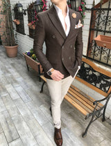 Austin Brown Double Breasted Blazer