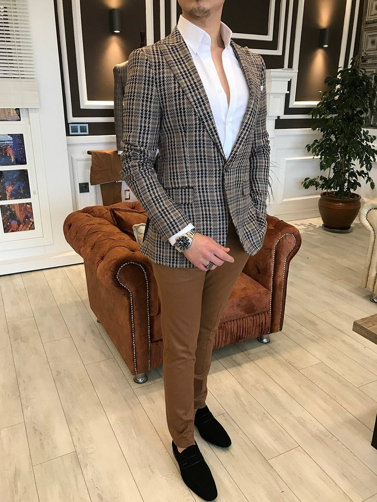 Marco G-Plaid Slim-Fit Blazer