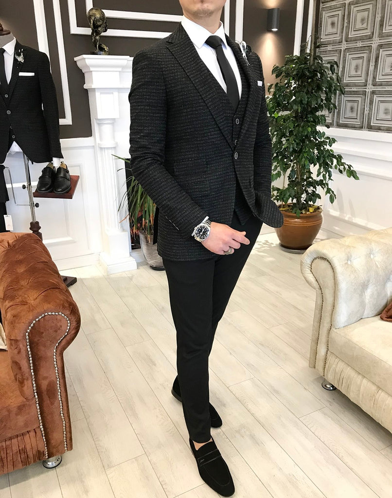 Matteo Black Slim-Fit Suit