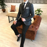 Matteo Dark Grey Slim-Fit Suit