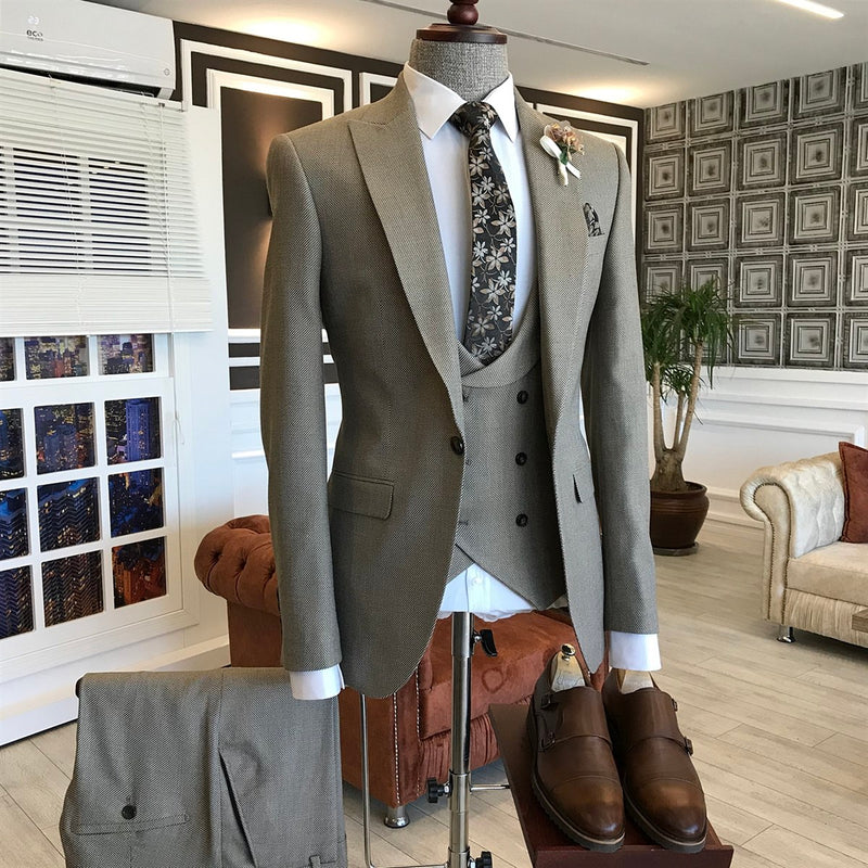 Riccardo Beige Slim-Fit Suit