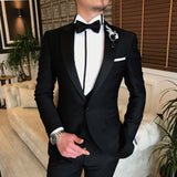 Black Slim-Fit Tuxedo 3-Piece