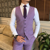 Purple Slim-Fit Suit 3-Piece