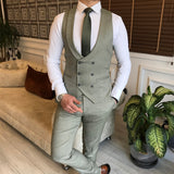 Green Slim-Fit Suit 3-Piece