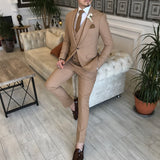 Camel Slim-Fit Suit 3-Piece