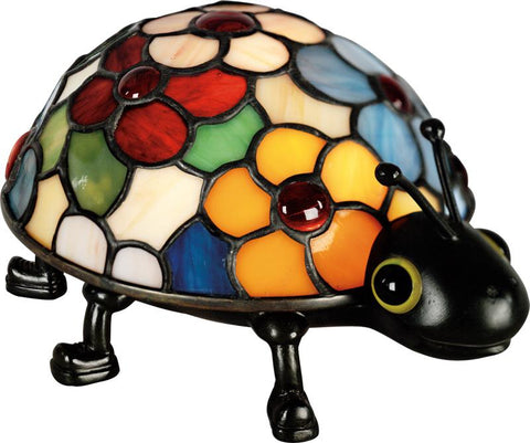 Flowered Ladybug Table Lamp | TF6031VB