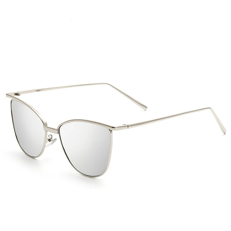 Unisex Women Gold Retro Cat Eye Sunglasses Classic Vintage Fashion Shades GG - Gaby.shop