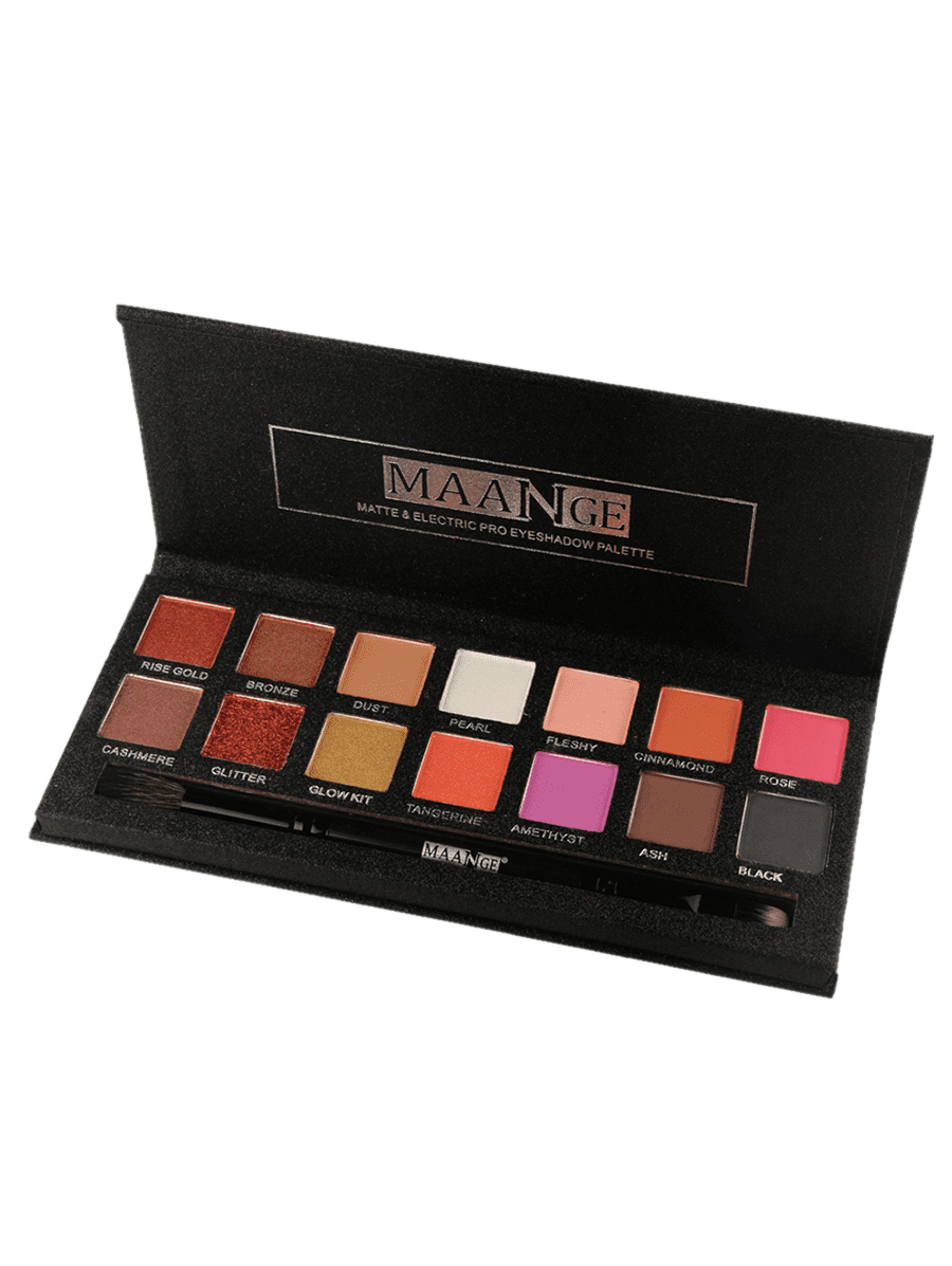 Professional 14 Colors Matte Electric Pro Eyeshadow Palette (COLORFUL) - Gaby.shop