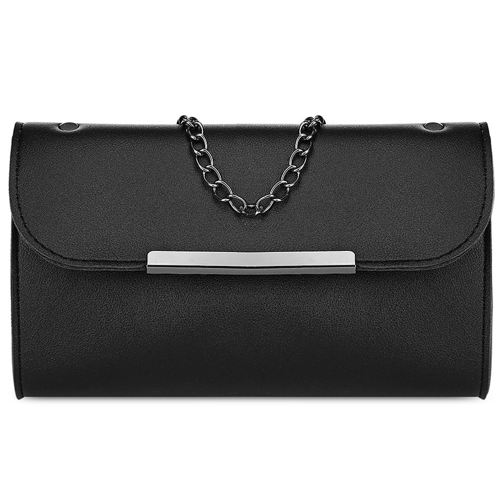 3pcs PU Leather Handbag Women Shoulder Bag Card Holder (BLACK) - Gaby.shop
