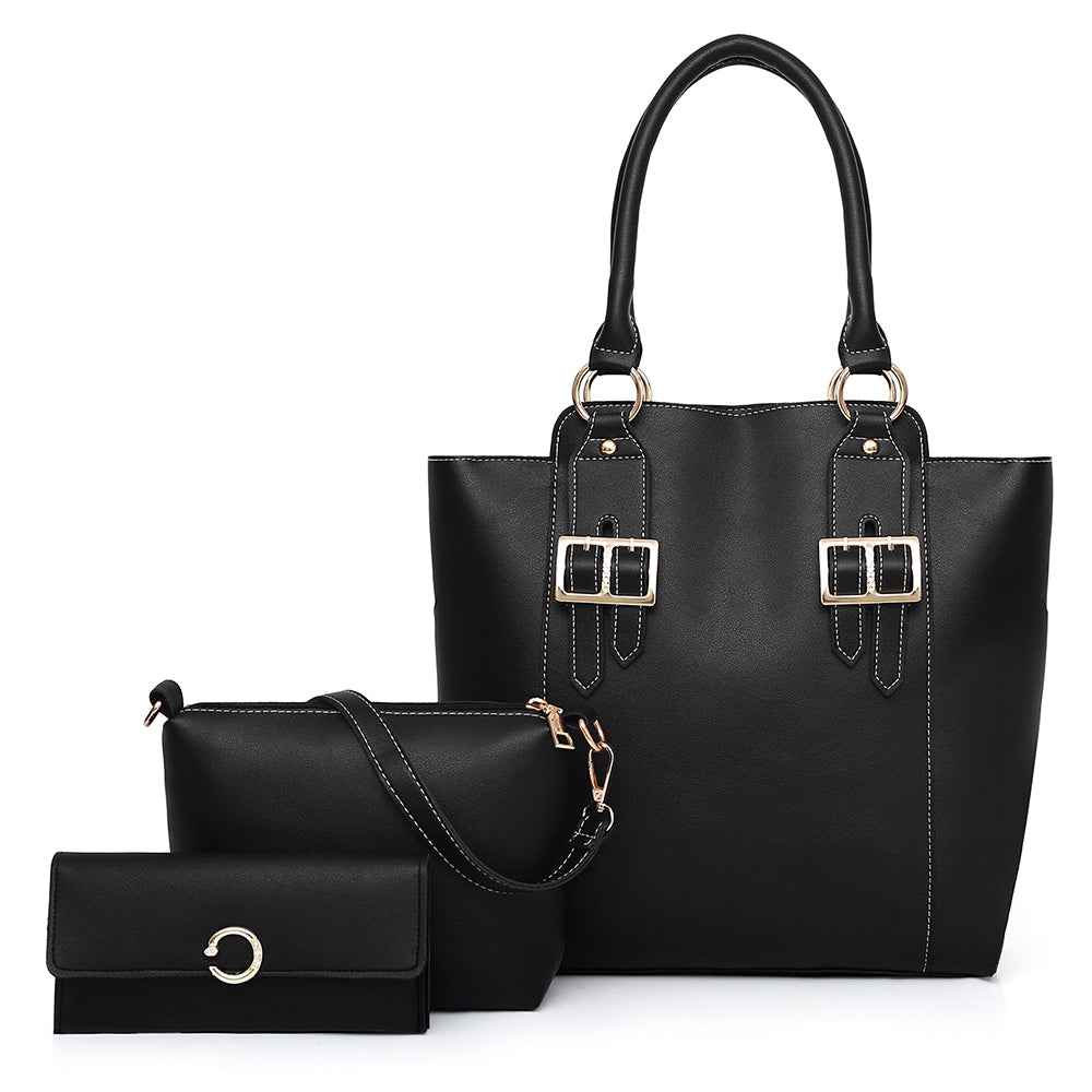 Women Handbag Shoulder Bag Purse Set - Gaby.shop