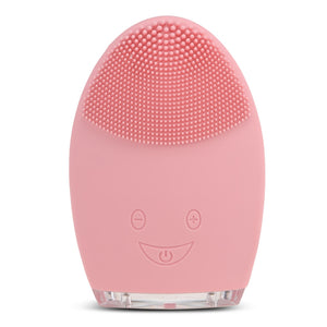 Rechargeable Silicone Facial Cleansing Brush Water-resistant Vibrating Massager - Gaby.shop