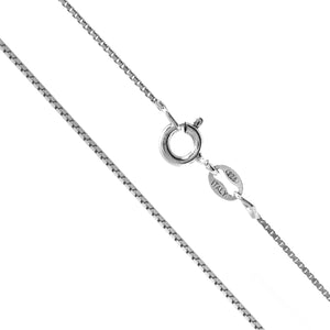 Sterling Silver 1mm Box Chain (22 Inches) - Gaby.shop