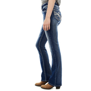 WallFlower Junior's Instastretch Luscious Curvy Bootcut Jeans, Jenna, 15 - Gaby.shop
