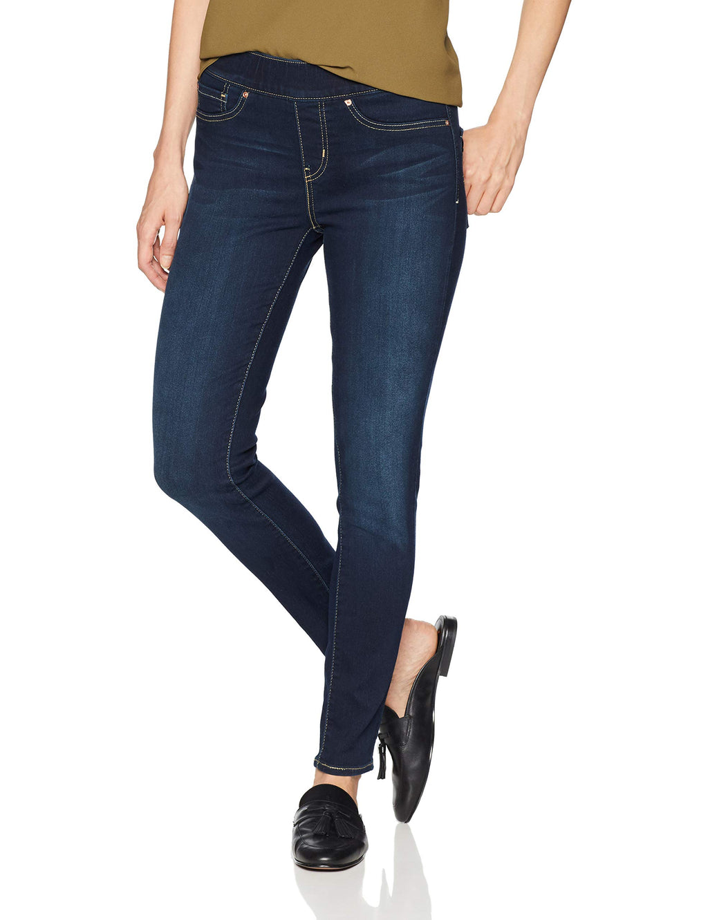 Signature by Levi Strauss & Co. Gold Label Women's Totally Shaping Pull-On Skinny Jeans, Immaculate, 6 Short - Gaby.shop