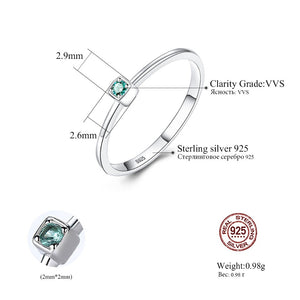 Sterling Silver Green Topaz Wedding Rings for Women - Gaby.shop