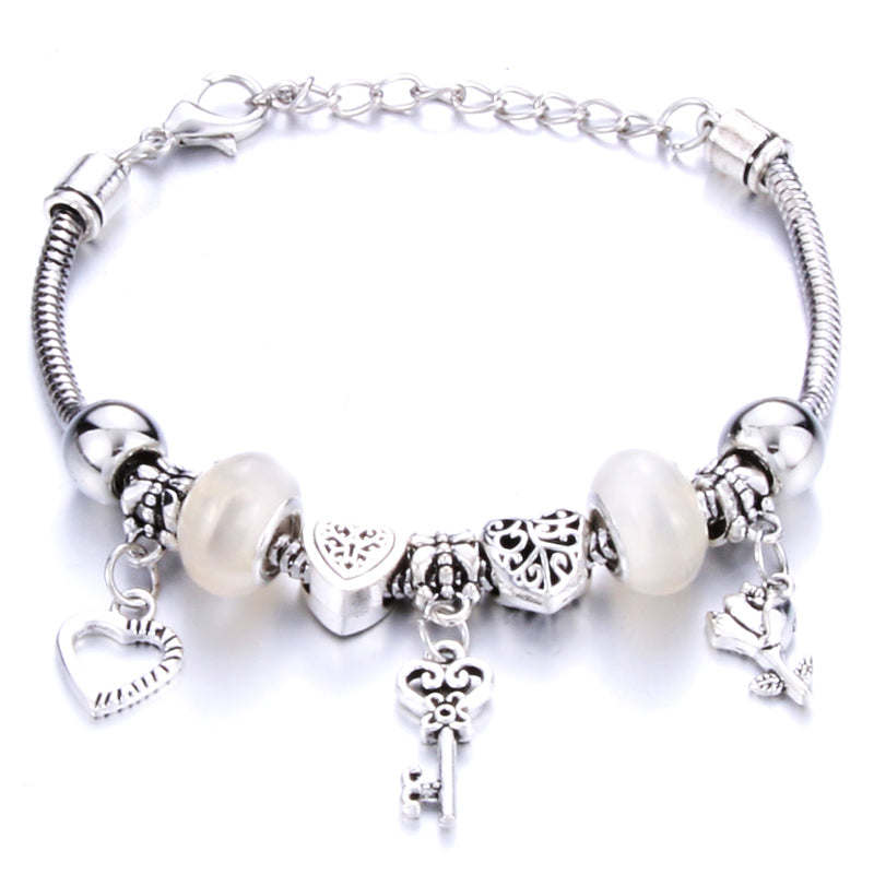 Romantic Love Heart Key and Lock Bracelet for Women Jewelry Christmas New Year's Gift - Gaby.shop
