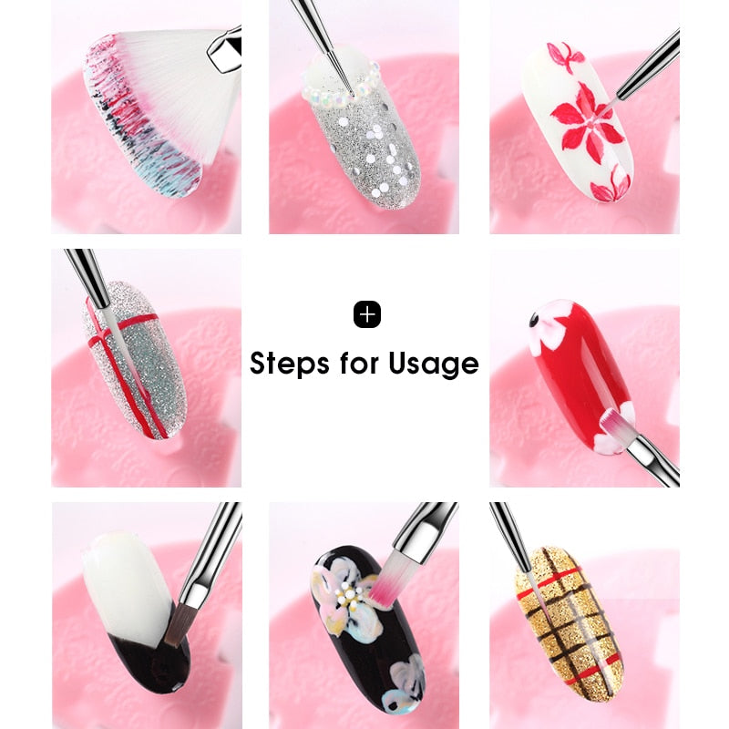 Nail Brush For Manicure Gel Brush For Nail Art - Gaby.shop