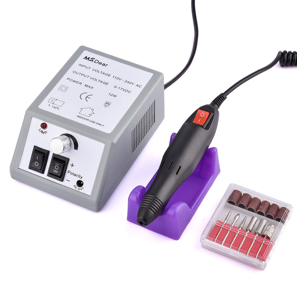 1 Set Nail Art Drill Electric Machine Manicure Pedicure Pen Tool Set Kit Hands Nail Polisher File Nail Cutter Nail Art Tools - Gaby.shop