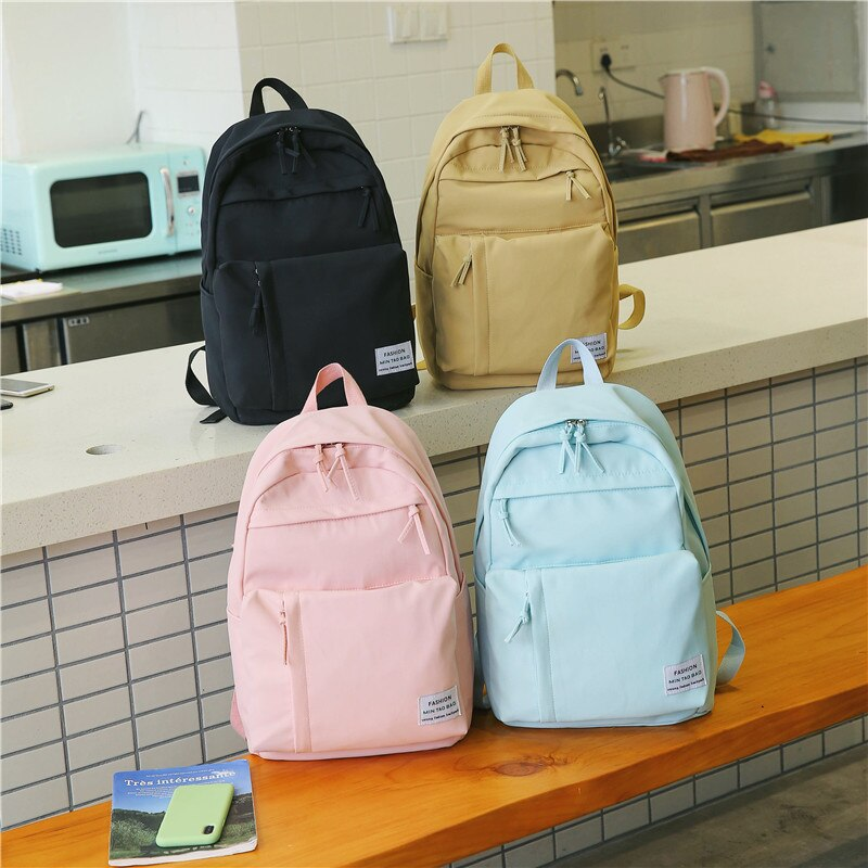 Fashion Nylon Women Backpack School Bags For Teenagers Girls preppy style student Backpack Female Rucksack Mochilas Feminina - Gaby.shop