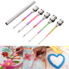 5pcs/set Metal Embroidery Stitching Punch Needle Handmade Needlepoint Kits Sewing Tool Set with Tube for DIY - Gaby.shop