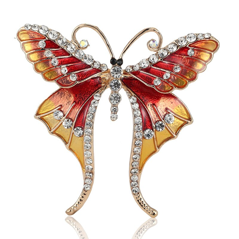 Romantic Butterfly Rhinestone Brooch Accessories - Gaby.shop