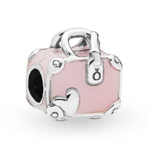 NEW Moments Flower Pendant Fit pandora Bracelet Necklace Little Mermaid Flounder Charm DIY Jewelry Gifts love - Gaby.shop