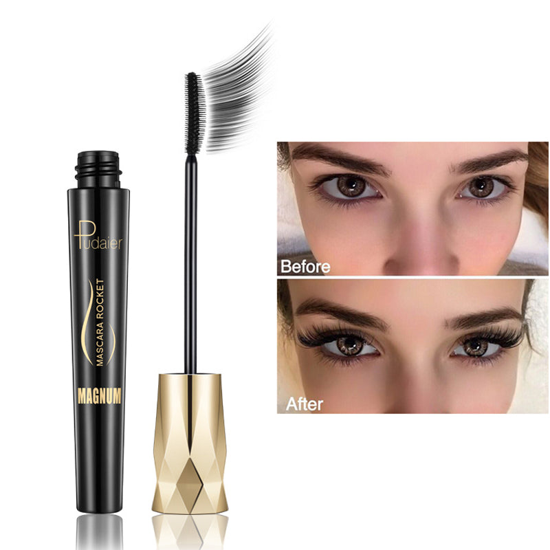 New 4d Fiber Lash Mascara Waterproof Black Eye Silk Eyelashes Mascara Lengthening Volume 3d Sexy Pudaier Eyebrow Makeup Mascara - Gaby.shop