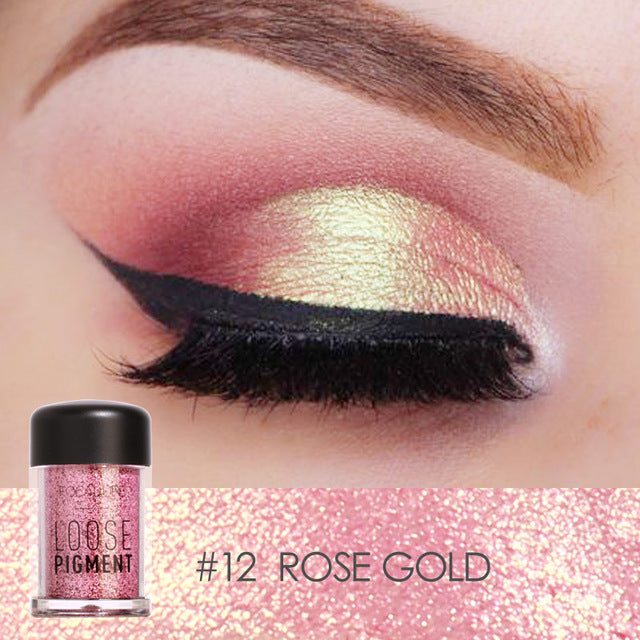 Glitter Eye Shadow 18 Colors Cosmetic Makeup Diamond Lips Loose Makeup - Gaby.shop