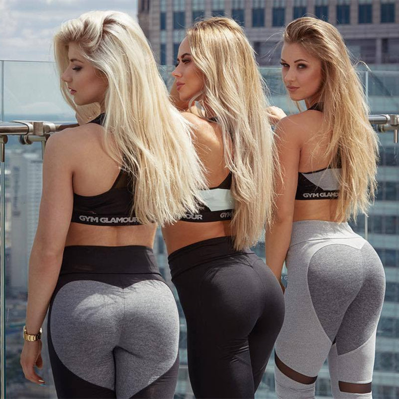 Sexy Soft Push Up Mesh Workout Fitness Leggings Activewear - Gaby.shop