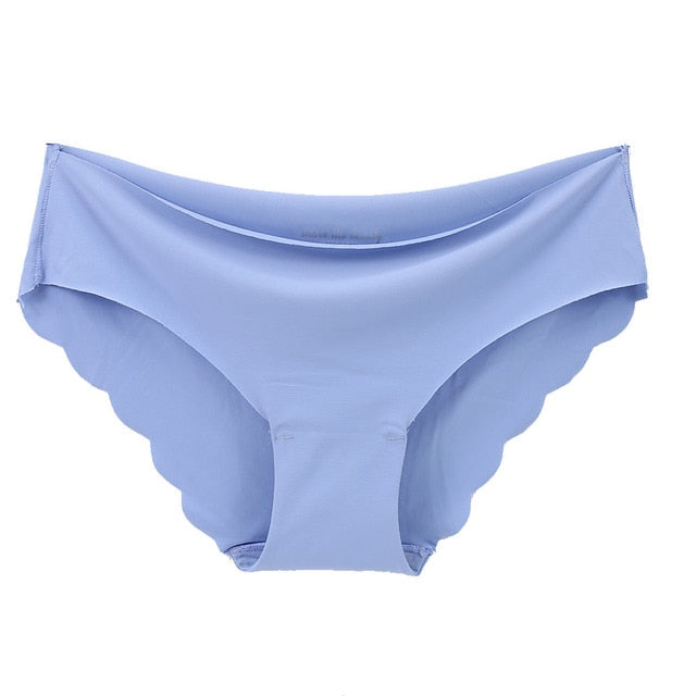 Women's Sexy low-Rise Ruffles High Quality Women's Seamless Panties Solid Ultra-thin Panties Underwear - Gaby.shop