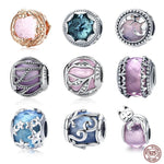 100% 925 Sterling Silver Nature Crystal Radiance Glass Charm Beads