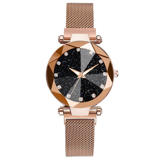 Luxury Starry Sky Stainless Steel Mesh Bracelet Watches For Women - Gaby.shop