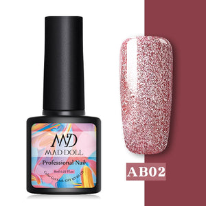 Rose Gold Glitter Sequins Soak Off UV Gel Varnish - Gaby.shop