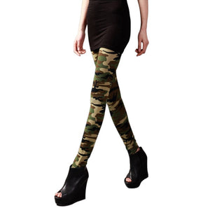 Women's Sexy Skinny High Waist Long Casual Camouflage Fitness Leggings - Gaby.shop