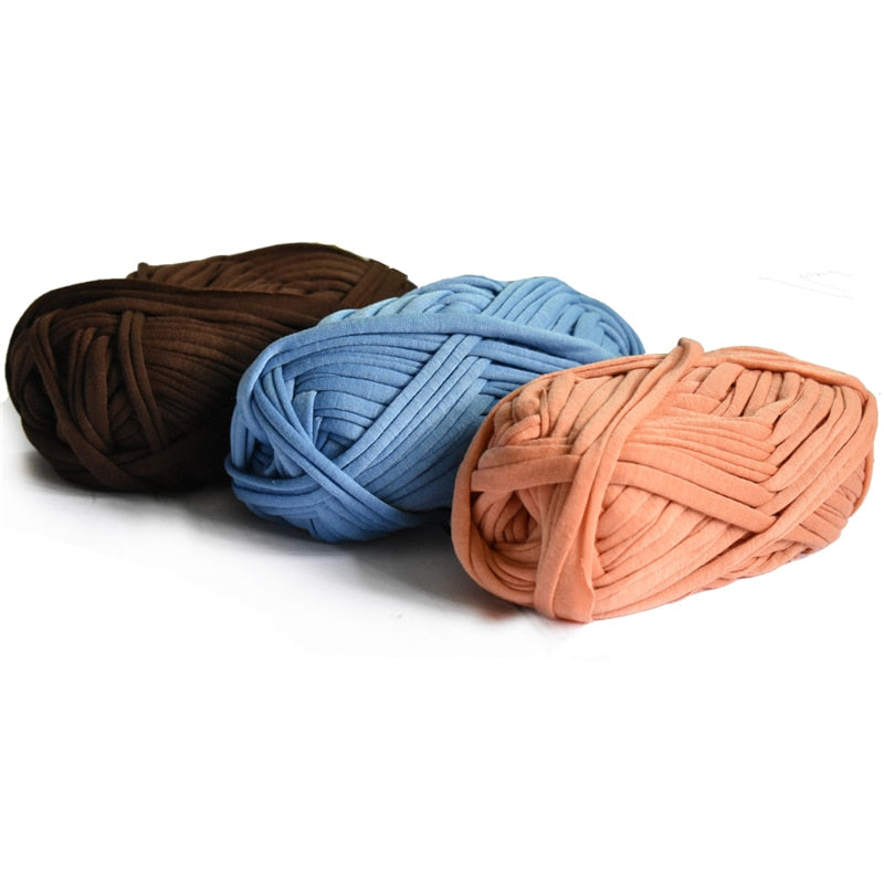 100g/ball Thick Cloth Fabric Strip Yarn Craft for Hand Knitting Crochet DIY Cushion Blanket Cloth Strip for bags - Gaby.shop