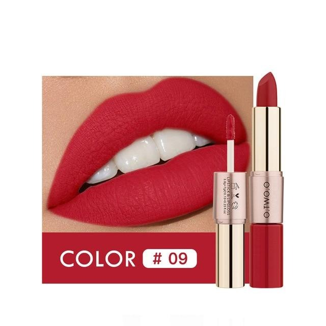 12 Colors Lips Makeup Lipstick  Lip Gloss Long Lasting Moisture Cosmetic Lipstick Red - Gaby.shop
