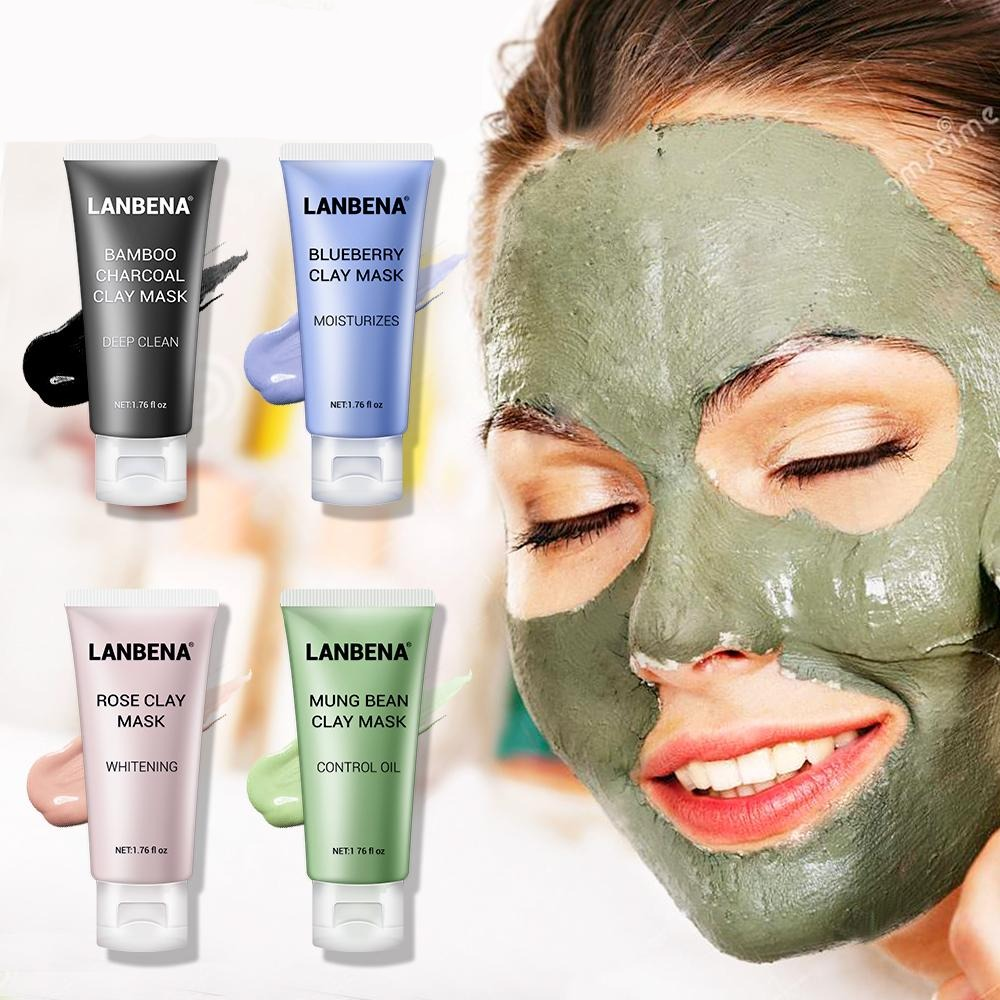 Skin Care Black Masks Mung Bean Clay Masks Facial Mask Blueberry Rose Bamboo Charcoal Blackhead Remover Mask - Gaby.shop
