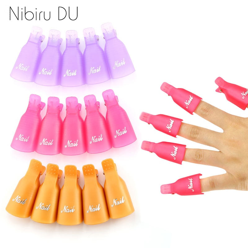 Plastic Nail Art Soak Off Cap Clips - Gaby.shop