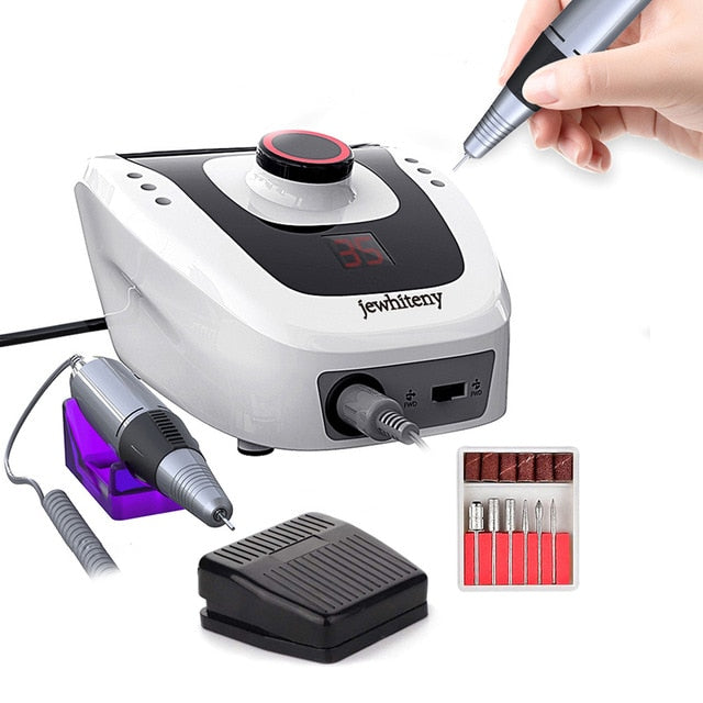 Pro Electric Nail Drill Machine Apparatus for Manicure Pedicure with Cutter Nail Drill Art Machine Kit Nail tool - Gaby.shop
